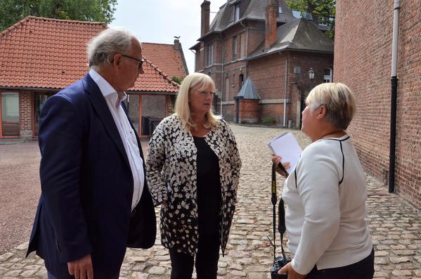 Bernard Gérard, maire de Marcq-en-Baroeul et Sophie Rocher, 1ère adjointe